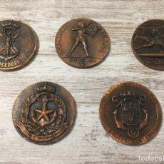 Medallas temáticas: MEDALLAS BRONCE BARCOS ESCUELA DE GUERRA NAVAL. Lote 163781814