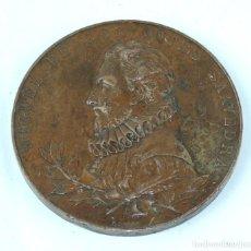 Medallas temáticas: MEDALLA 1905 III CENTENARIO DE LA PUBLICACION DEL QUIJOTE, ANVERSO: MIGUEL DE CERVANTES SAAVEDRA, BU. Lote 163880402