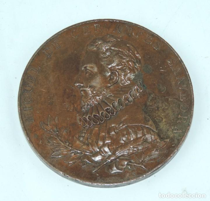 Medallas temáticas: MEDALLA 1905 III CENTENARIO DE LA PUBLICACION DEL QUIJOTE, ANVERSO: MIGUEL DE CERVANTES SAAVEDRA, BU - Foto 2 - 163880402