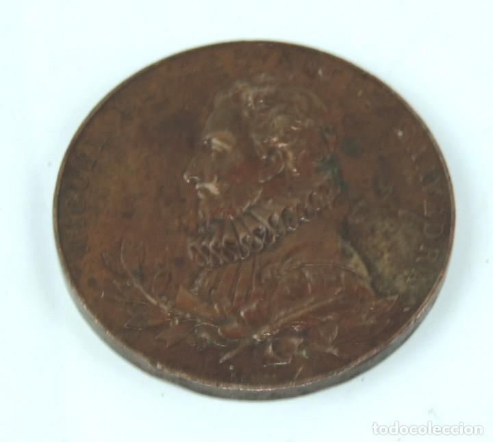Medallas temáticas: MEDALLA 1905 III CENTENARIO DE LA PUBLICACION DEL QUIJOTE, ANVERSO: MIGUEL DE CERVANTES SAAVEDRA, BU - Foto 3 - 163880402
