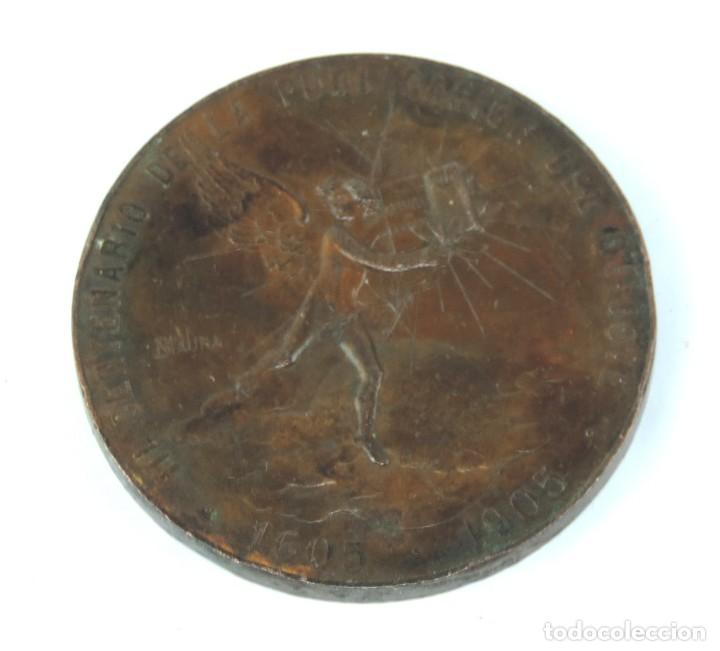 Medallas temáticas: MEDALLA 1905 III CENTENARIO DE LA PUBLICACION DEL QUIJOTE, ANVERSO: MIGUEL DE CERVANTES SAAVEDRA, BU - Foto 4 - 163880402