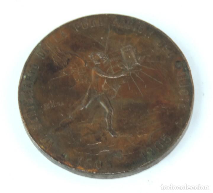 Medallas temáticas: MEDALLA 1905 III CENTENARIO DE LA PUBLICACION DEL QUIJOTE, ANVERSO: MIGUEL DE CERVANTES SAAVEDRA, BU - Foto 5 - 163880402