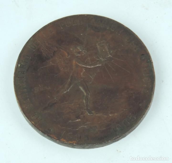 Medallas temáticas: MEDALLA 1905 III CENTENARIO DE LA PUBLICACION DEL QUIJOTE, ANVERSO: MIGUEL DE CERVANTES SAAVEDRA, BU - Foto 6 - 163880402