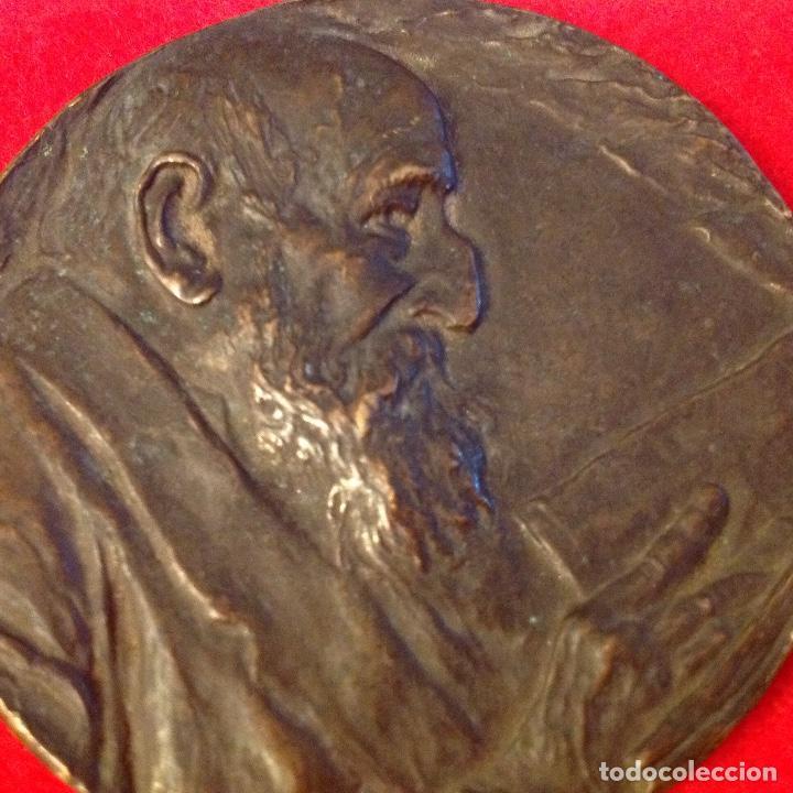 Medallas temáticas: Medalla de Mariano Benlliure dedicada a D. Fco. Rguez. Marín, director de la Real Acad. Española, - Foto 6 - 164725498
