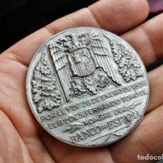 Medallas temáticas: MEDALLA CONMEMORATIVA CENTENARIO BANCO DE ESPAÑA 1956. PESO 77 GR. DE PLATA .RARA. Lote 164972258