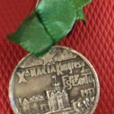 Medallas temáticas: MEDALLA CONMEMORATIVA - 10º CONGRESO ESPAÑOL DE ESPERANTO - SANTANDER 1933. Lote 165516698