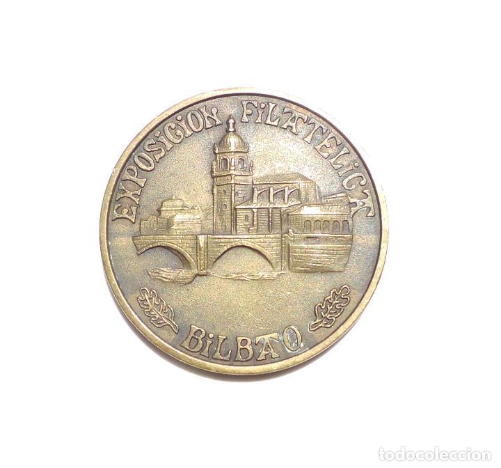 MEDALLA EXPOSICIÓN FILATELICA DE BILBAO (Numismática - Medallería - Temática)