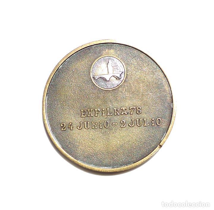 Medallas temáticas: MEDALLA EXPOSICIÓN FILATELICA DE BILBAO - Foto 2 - 165737602