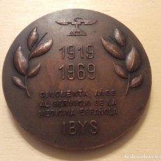 Medallas temáticas: MEDALLA 50 ANIVERSARIO INSTITUTO DE BIOLOGÍA Y SUEROTERAPIA 1919-1969 COBRE. Lote 165993394