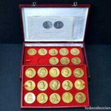 Medallas temáticas: 23 MEDALLAS REYES DE ESPAÑA COLECCION CALICO CON MONETARIO. Lote 166576402