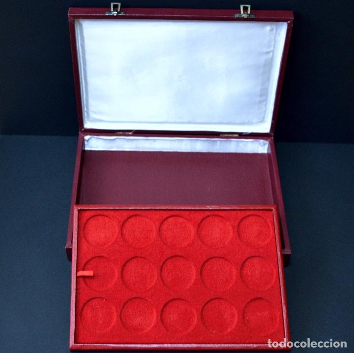 Medallas temáticas: 23 MEDALLAS REYES DE ESPAÑA COLECCION CALICO CON MONETARIO - Foto 7 - 166576402