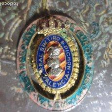 Medallas temáticas: 1960 ANTIGUA MEDALLA INSIGNIA REAL SOCIEDAD VALENCIA TIRO AL PICHON CAMPEONATO EUROPA . Lote 118697531