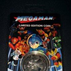 Medallas temáticas: MEGAMAN LIMITED EDITION COIN ZAVVI ZBOX EXCLUSIVA NUMERADA NÚMERO 1344 NINTENDO CAPCOM. Lote 166905036