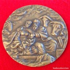 Medallas temáticas: MEDALLA DE BRONCE DE CABBSA, NAVIDAD 1998, 10 CM., BUEN EJEMPLAR, EN SU ESTUCHE ORIGINAL, FIRMADA.. Lote 167832160