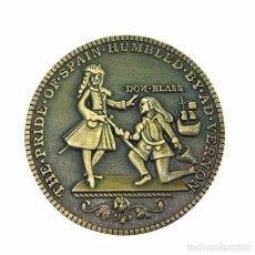 Medalhas temáticas: MEDALLA REPLICA BLAS DE LEZO CARTAGENA INDIAS 1741 VERNON. Lote 189744438