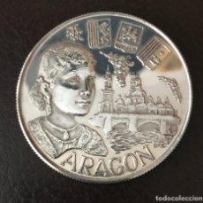 Medallas temáticas: MEDALLA DE ARAGÓN DE PLATA DE LEY . 45 MM. CON UN PESO DE 31,2 GRAMOS. Lote 167969212