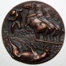Medallas temáticas: MEDALLA FNMT. SERIE TAUROMAQUIA: MULILLAS. POR MANOLO PRIETO. AÑOS 60. Lote 168453296