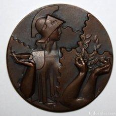 Medallas temáticas: MEDALLA FNMT. 1 EXPOSICION NACIONAL DE FILATELIA. MADRID, AÑO 1958. Lote 168454080