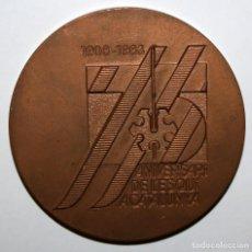 Medallas temáticas: MEDALLA DEL 75 ANIVERSARI DE L' ESQUI A CATALUNYA (1908 - 1983). Lote 168454460