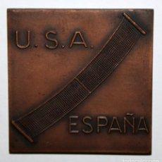Medallas temáticas: MEDALLA COPA DAVIS DE TENIS ELIMINATORIA INTER ZONAS U.S.A. ESPAÑA EN BARCELONA 1965. Lote 168454988