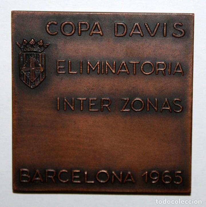 Medallas temáticas: MEDALLA COPA DAVIS DE TENIS ELIMINATORIA INTER ZONAS U.S.A. ESPAÑA EN BARCELONA 1965 - Foto 2 - 168454988
