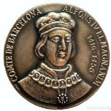 Medallas temáticas: MEDALLA EN PLATA ALFONS IV EL MAGNANIM COMTE DE BARCELONA 1416 - 1458 RETRATOS REYES DE ESPAÑA. Lote 168705888