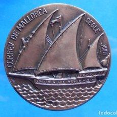 Medallas temáticas: CORREU DE MALLORCA, SIGLE XVIII. CONSELL GENERAL INTERINSULAR. SEPTIEMBRE 1980. PALMA. BALEARES. Lote 169043368