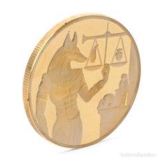 Medallas temáticas: PRECIOSA MONEDA DE ORO CON DIOS EGIPCIO ANUBIS - EDICIÓN LIMITADA -. Lote 169349444