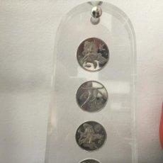 Medallas temáticas: MEDALLAS DE PLATA , FIRMADAS Y CONTRASTADAS 1000 , EN SOPORTE DE METACRILATO. Lote 169422948