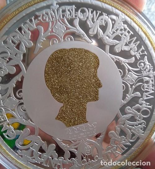Medallas temáticas: GRAN MEDALLON XXXL DE LADY DI PRINCESA DE GALES Y DEL PUEBLO CON PLATA ORO Y ACABADO EN DIAMANTE - Foto 3 - 169725745
