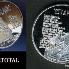 Medallas temáticas: MEDALLA PLATA TIPO MONEDA HOMENAJE AL TITANIC - Nº3. Lote 169831436