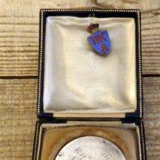 Medallas temáticas: SEVILLA, 1927, MEDALLA MOTOCICLISMO KILOMETRO LANZADO, CON ESTUCHE ORIGINAL, PLATA, RARISIMA,. Lote 169876288