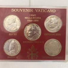 Medallas temáticas: COLECCIÓN MONEDAS VATICANO LOS PAPA DESDE 1939 A 1995 JUAN PABLO II. Lote 170064952