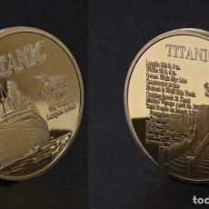 Medallas temáticas: MEDALLA ORO TIPO MONEDA HOMENAJE AL TITANIC PESO 30 GRAMOS - Nº3. Lote 170485586