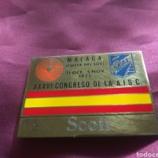 Medallas temáticas: PLACA CONGRESO SKAL 1975. Lote 171170674
