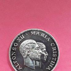 Médailles thématiques: MEDALLA PLATA. ALFONSO XIII Y MARIA CRISTINA.CONVENCION NUMISMATICA 1978. Lote 171192284