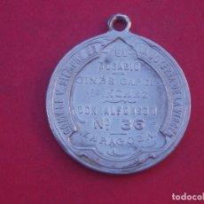 Medallas temáticas: MUY RARA MEDALLA ANTIGUA PROPAGANDA JOYERÍA DE LA VIRGEN. ZARAGOZA.. Lote 172580628