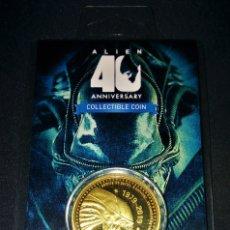 Medallas temáticas: ALIEN 40 ANIVERSARIO 1979-2019 MONEDA EDICIÓN LIMITADA DORADA ZAVVI ZBOX EXCLUSIVA GOLD GOLDEN COIN. Lote 172727698