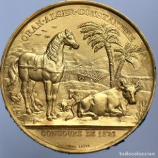 Medallas temáticas: MEDALLA O PLACA ANTIGUA 1876 , CHAPADO ORO. Lote 173081202
