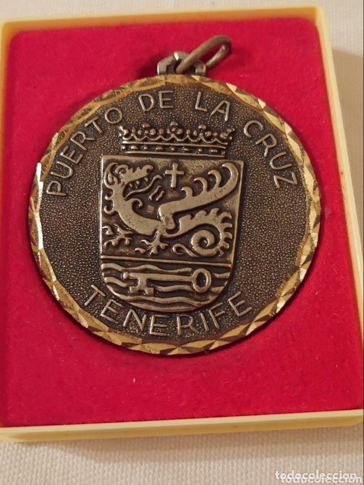 Medallas temáticas: Medalla, Tenerife escudo puerto de la Cruz - Foto 2 - 173606023