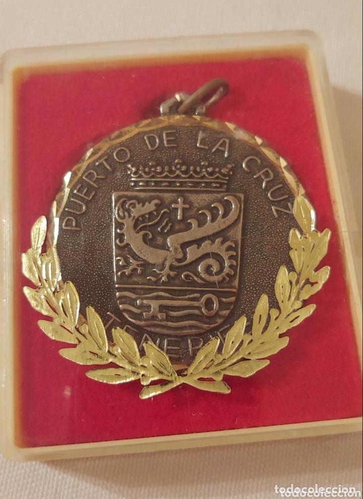Medallas temáticas: Medalla, Tenerife escudo puerto de la Cruz - Foto 3 - 173606023