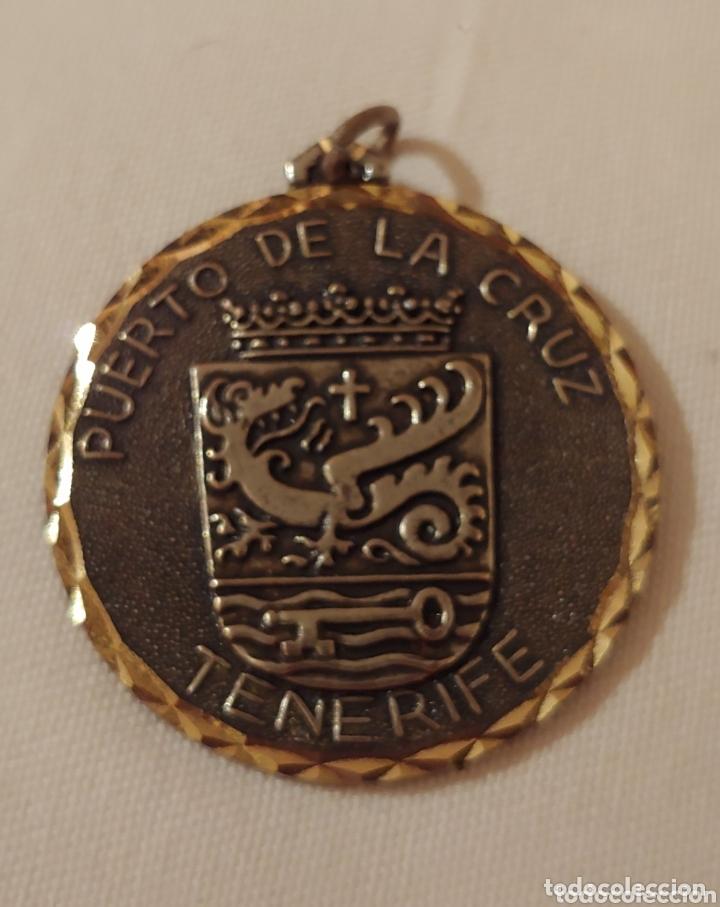 MEDALLA, TENERIFE ESCUDO PUERTO DE LA CRUZ (Numismática - Medallería - Temática)