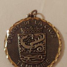 Medallas temáticas: MEDALLA, TENERIFE ESCUDO PUERTO DE LA CRUZ. Lote 173606023
