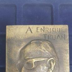 Medallas temáticas: IMPRESIONANTE MEDALLA A ENRIQUE TRUAN DEL AYUNTAMIENTO DE GIJÓN. Lote 173674365