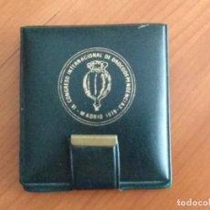 Medallas temáticas: MEDALLA DEL IX CONGRESO INTERNACIONAL DE DROGODEPENDECIAS (MADRID, 1979). Lote 173879090
