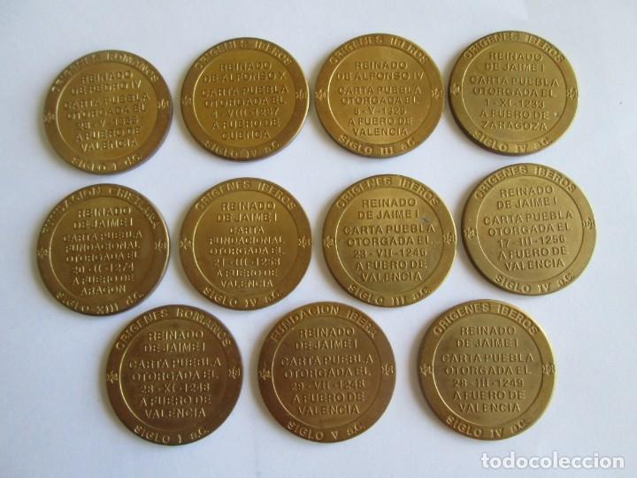 Medallas temáticas: LOTE DE 11 MEDALLAS DE LA PROVINCIA DE VALENCIA - Foto 2 - 173880742