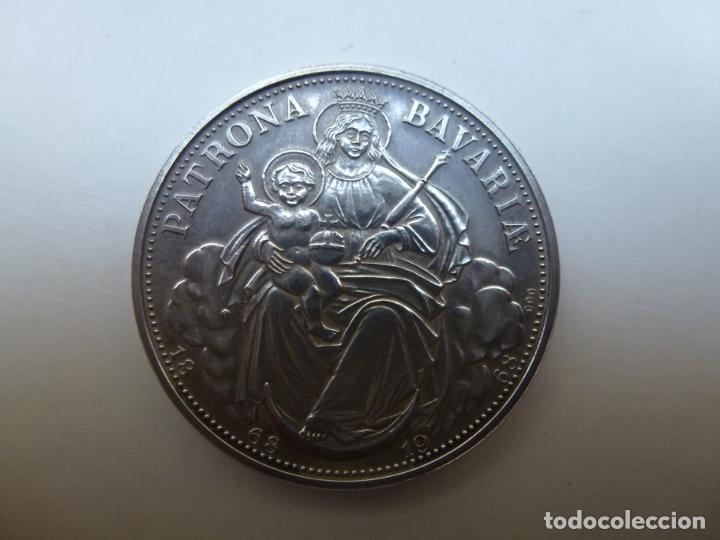 MEDALLA DE PLATA PATRONA BAVARIA. 1968 (Numismática - Medallería - Temática)
