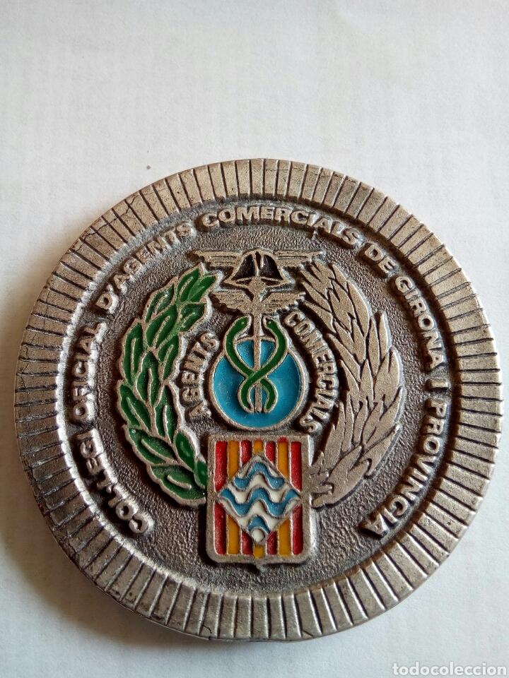 MEDALLA DE COLLEGI OFICIAL AGENTS COMERCIALS DE GIRONA I PROVINCIA AÑO 1988 (Numismática - Medallería - Temática)