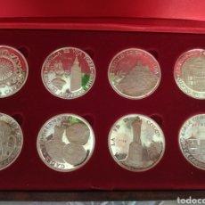 Medallas temáticas: MEDALLAS ANDALUCÍA (PLATA PURA 1000/000 -190,,8 GR CERTIFICADAS), 8 PROVINCIAS ANDALUCÍA AÑO 1977.. Lote 172632779