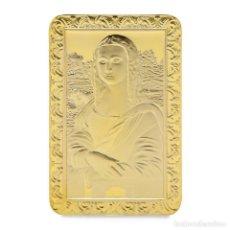 Medallas temáticas: EXCLUSIVO LINGOTE DE ORO DE LA MONA LISA (EDICIÓN LIMITADA, NUMERADO). Lote 194914795